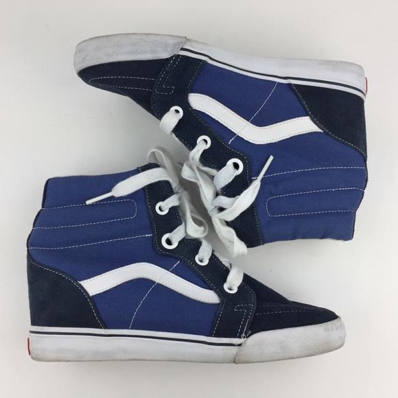 Vans Sk8-Hi Blue Sneakers Hidden Wedge Size 11. M 5b35d8670cb5aa55db977c84 ae3afdfb9450